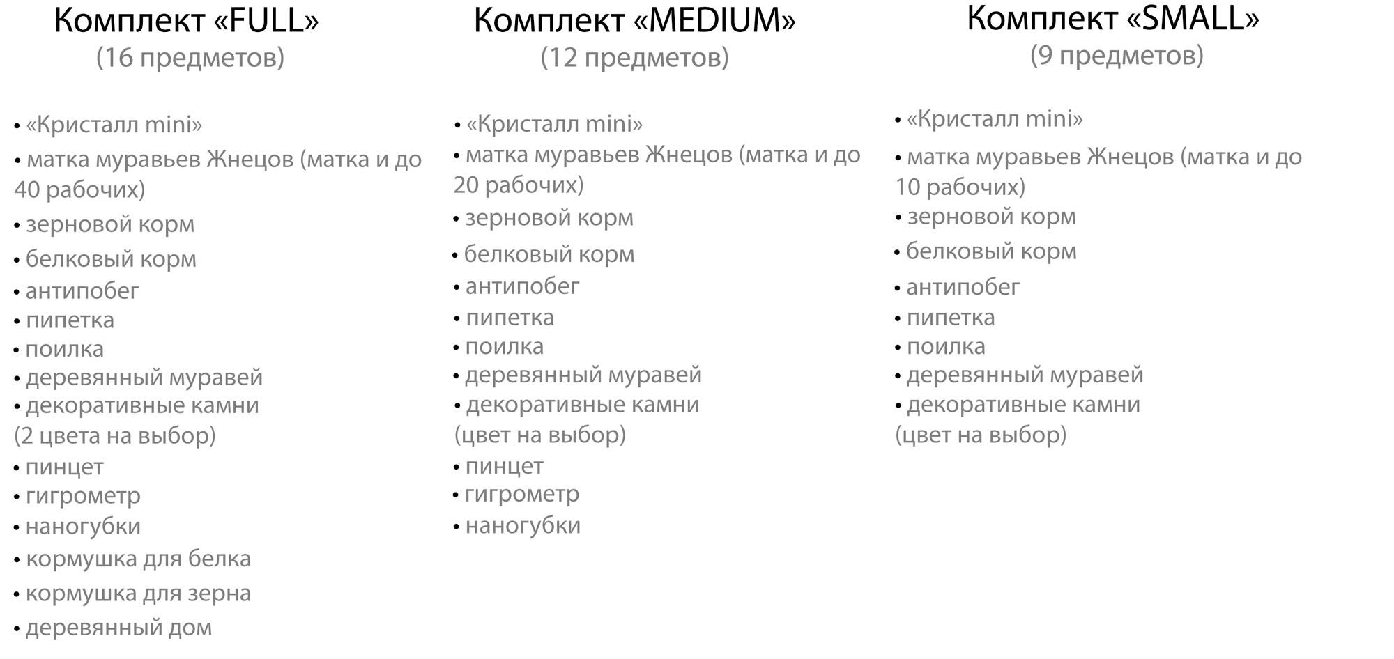 Таблица сравнения